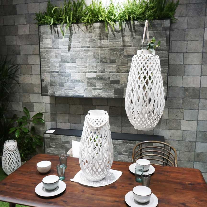 Wandfliesen in einer rustikalen Steinoptik