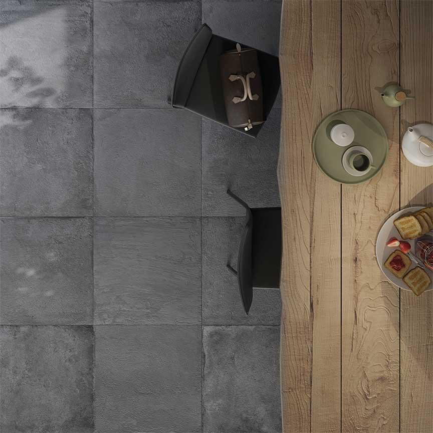 Terrasenplatten im Format 80x80x2cm wirken großzügig und sind pflegeleicht. Mit der neuen Fuge SOPRO Solitär und dem bewährten Flexkleber No 1 ist auch die Verlegung und Verfugung im Outdoor-Bereich kein Problem mehr