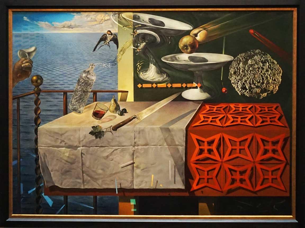 """Besuch des Dali Museums in Saint Petersburg in der Tampa Bay : Hier das Kunstwerk """"Nature Morte Vivante"""" von 1956"""