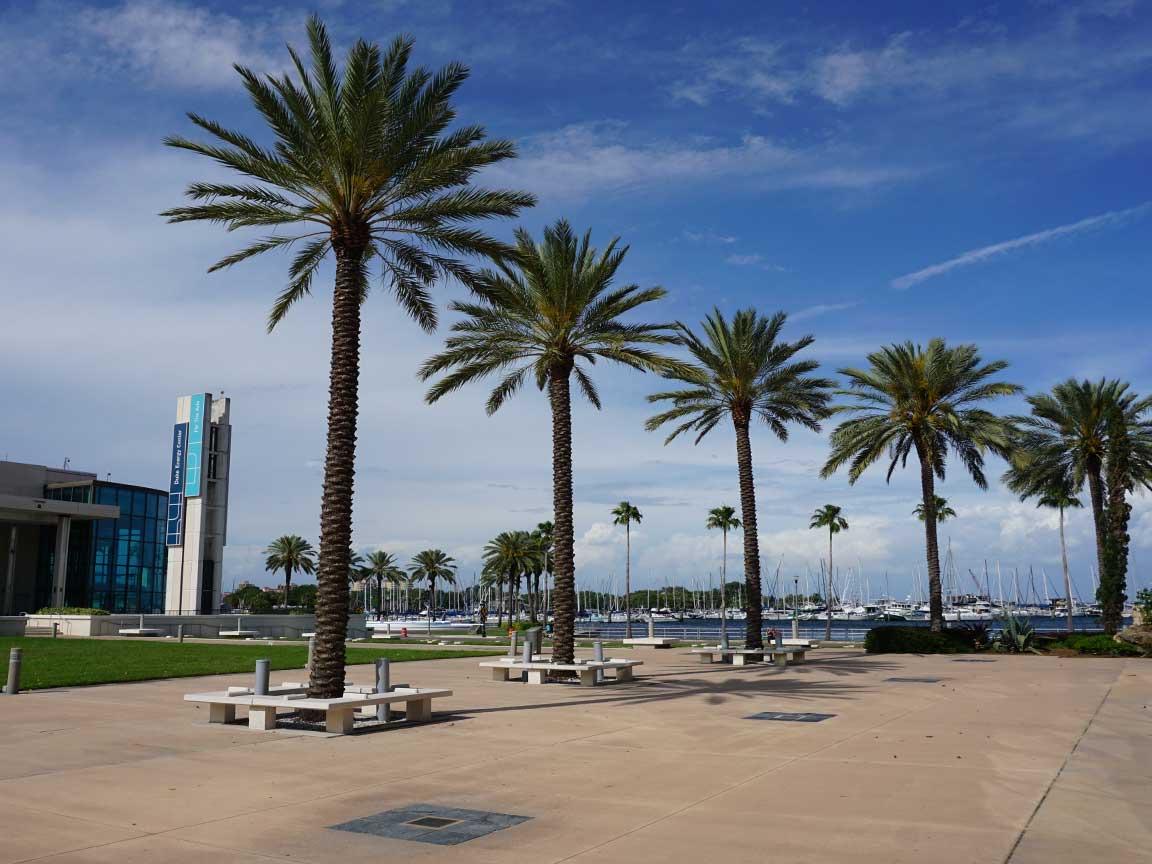 Kurz vor dem Messestart der COVERINGS 2019 : ein kleiner Abstecher zum St. Pete Beach in der Tampa Bay