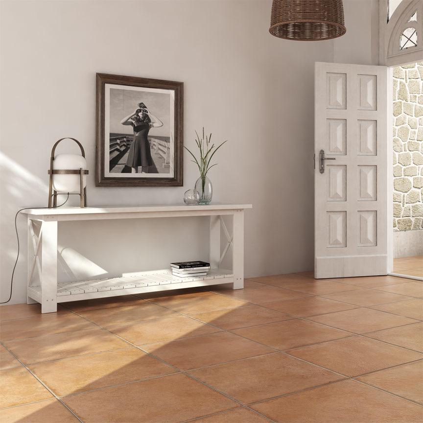 Ein ruhiger gemütlicher Cotto-Farbton im Format 60x60cm . Ideal für den Wohnbereich