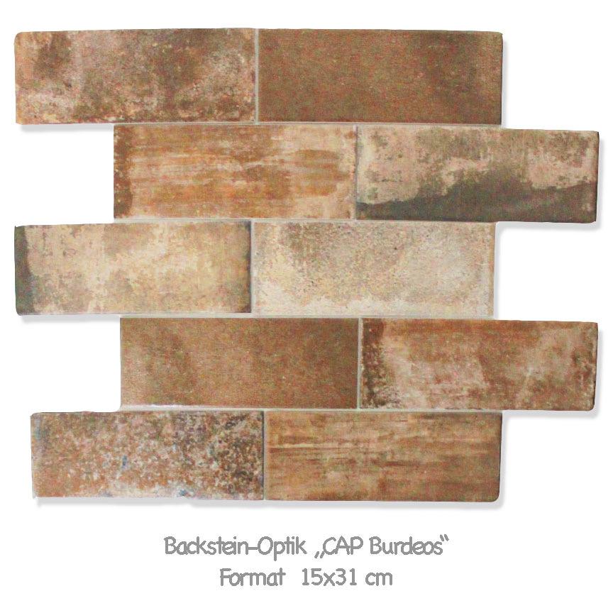 """Terracotta für den Loft Style : Backsteinoptik im Farbton """"Burdeos"""""""