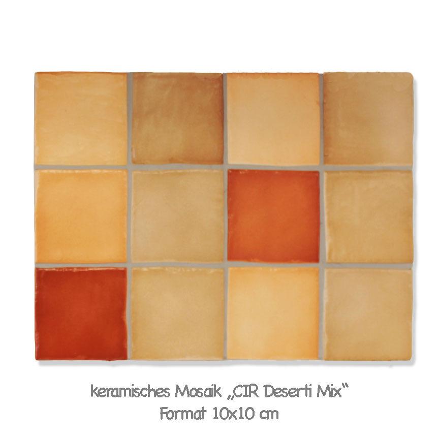 Mosaik im Terrakotta Farbton mit einem sehr schönen Farbspiel