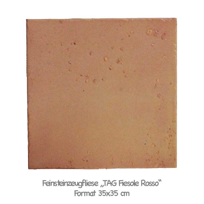 Fliesen in einem Terracotta / Terrazzo - Mix aus Umbrien / Italien