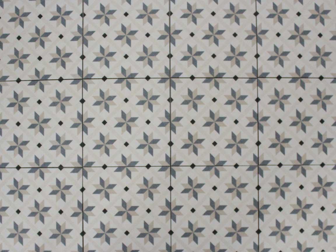 "Zementfliesen-Optik ""Palermo Bea"" im Format 22,5 x 22,5 cm"