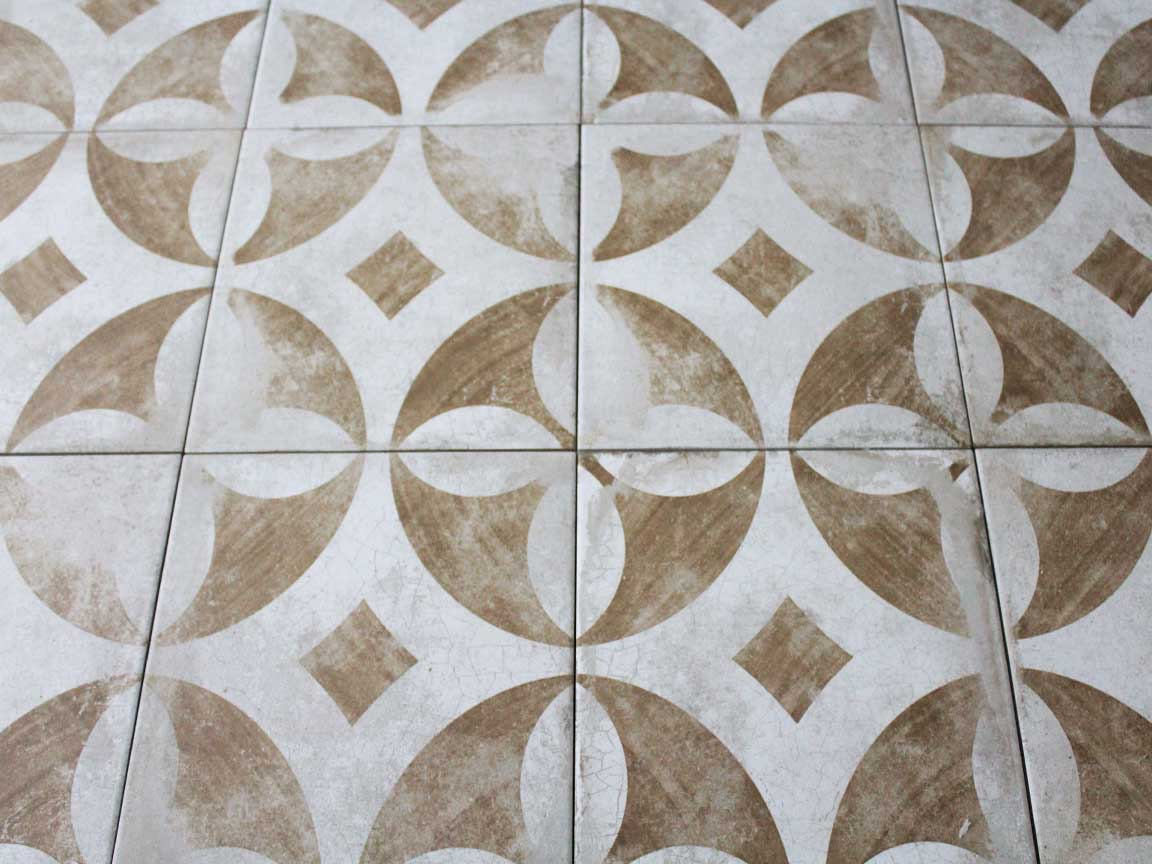 "Zementfliesen-Optik ""Ravenna Terracotta"" im Format 22,5 x 22,5 cm"