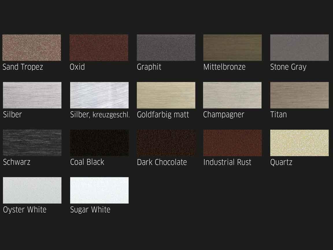 """Die Abschlussprofile """"New York"""" von der Firma Blanke sind in verschiedenen Farben erhältlich"""