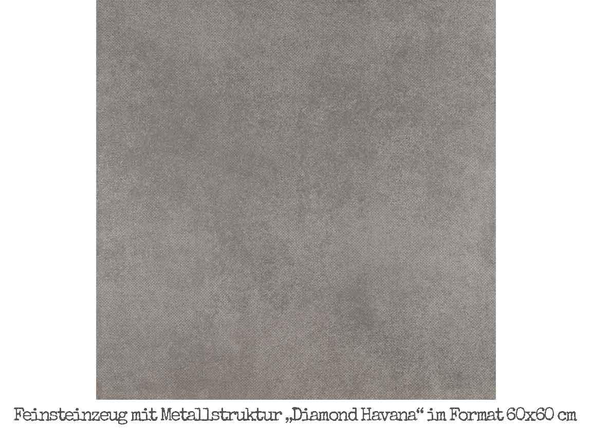 """Der Klassiker von Piemmegres """"Diamond Havana"""" im Format 60x60 cm"""