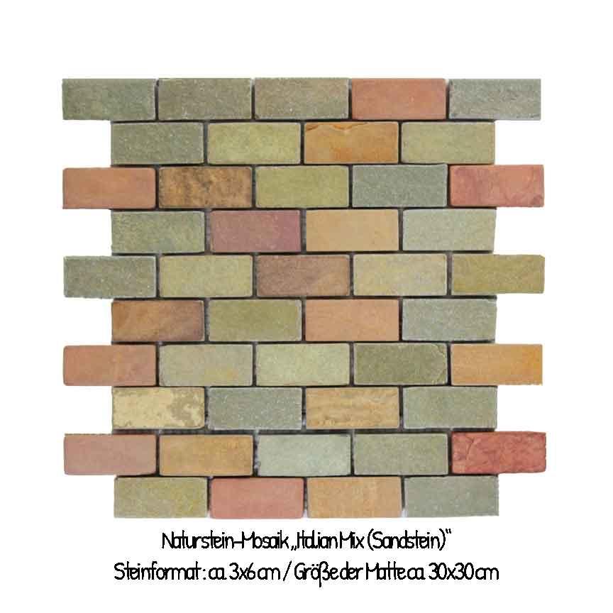 """Das Mosaik """"Italian Mix"""" aus indischem Sandstein ist ein wirklicher Hingucker"""