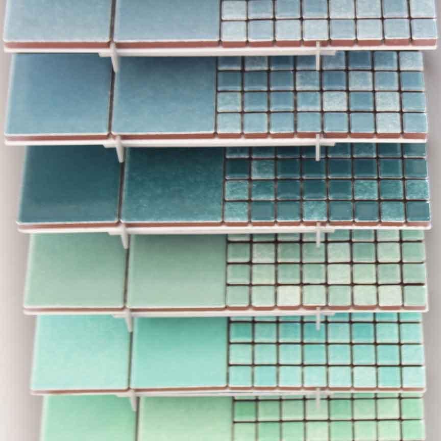 keramische Mosaike in aktuellen Grüntönen haben wir auch im Sortiment
