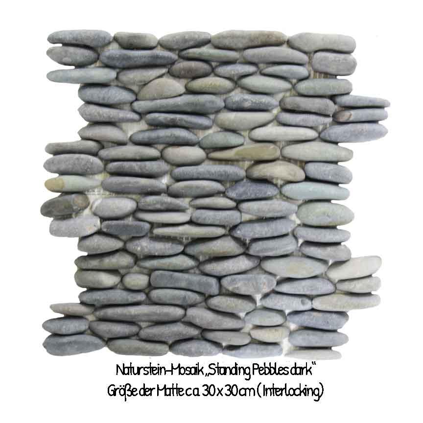 Die perfekte Urban Jungle Wandverkleidung : Standing Pebbles-Mosaik
