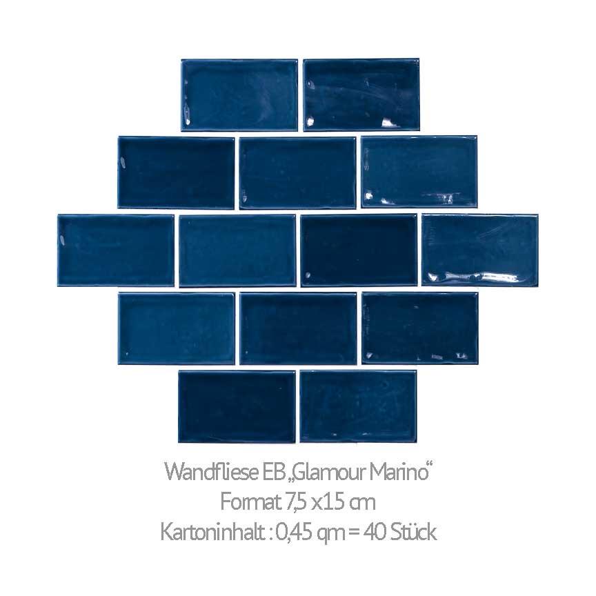 rustikale Metrofliesen im Format 7,5x15cm in unserer Fliesenausstellung in Iserlohn und Essen