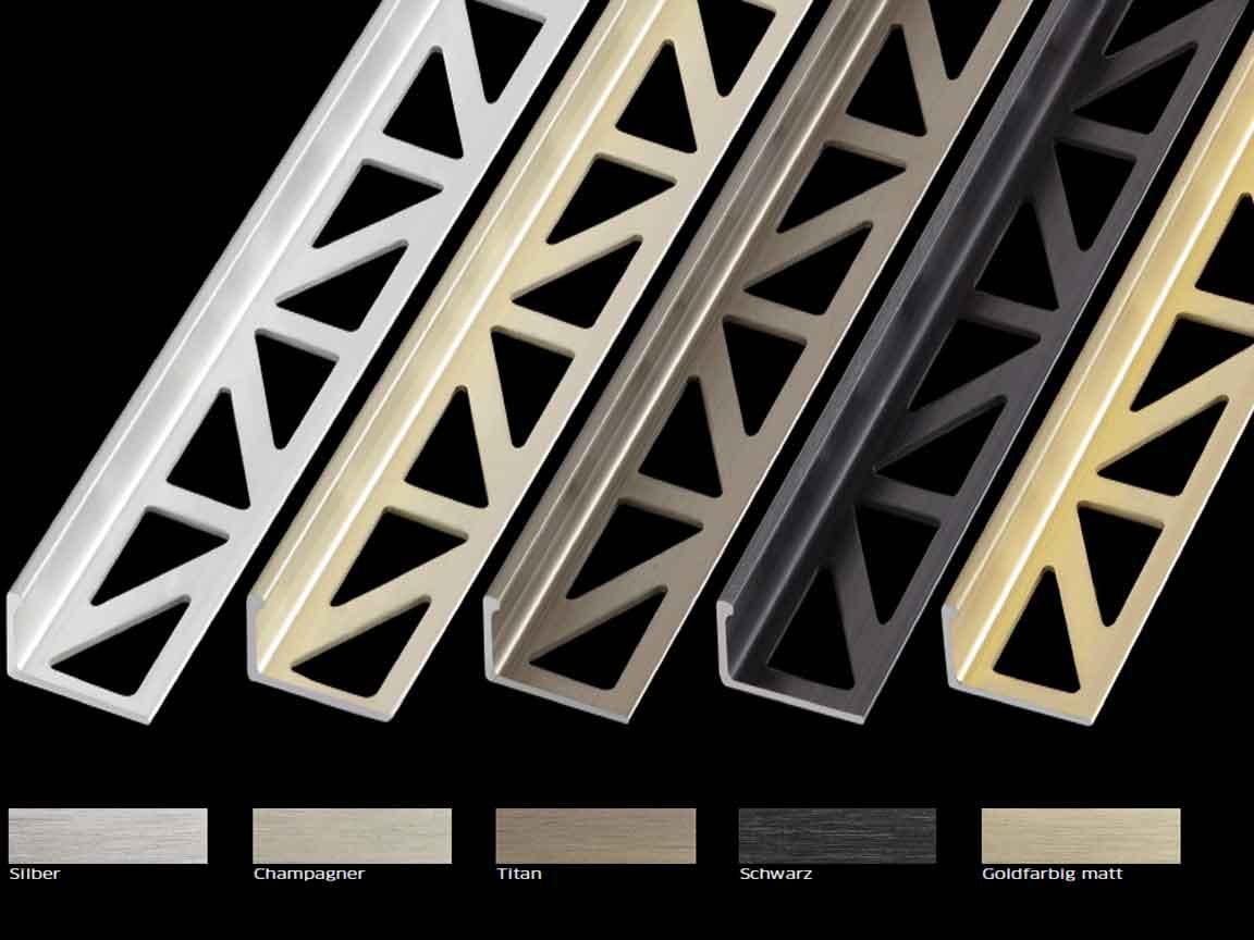 Blanke Systems bietet den passenden Abschluss für Ihre Wandfliese