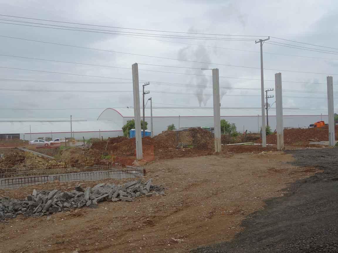 Hier entsteht in wenigen Monaten das neue Logistikzentrum der Firma ELIANE