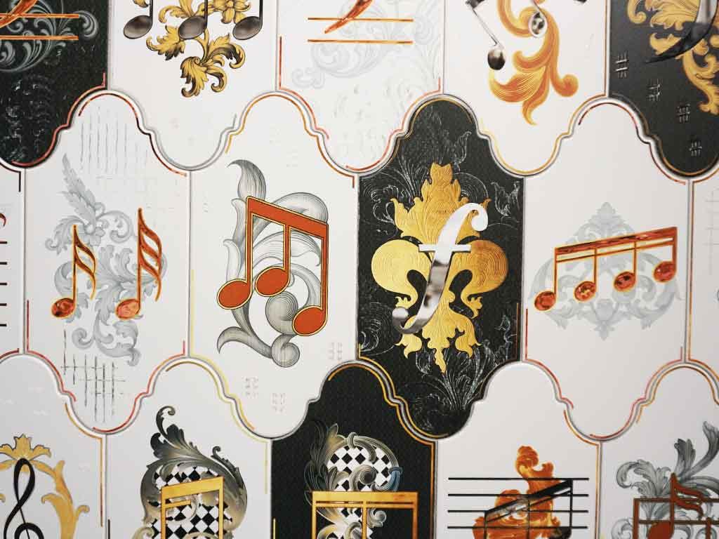 Fliesendekore passend zum Thema Musik