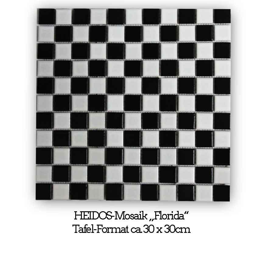 """HEIDOS-Mosaik """"Florida"""" im schwarz-weiß Schachbrett-Muster"""