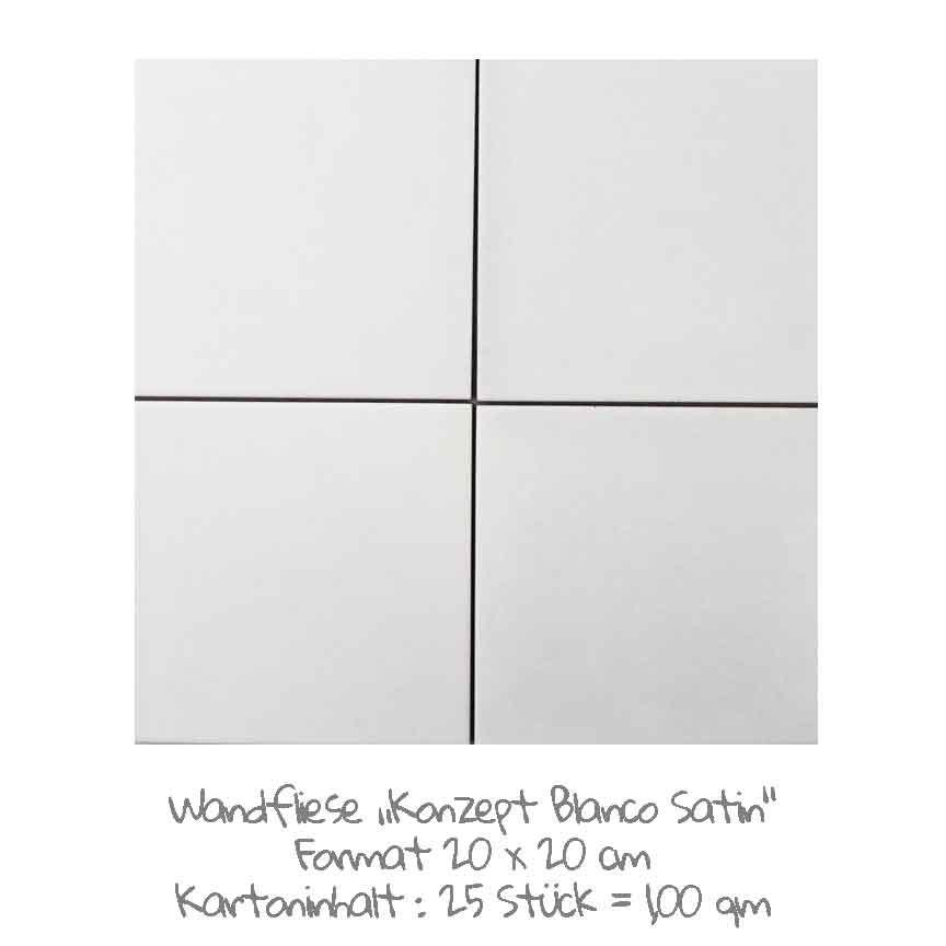 quadratische Wandfliesen-Serie Konzept in weiß