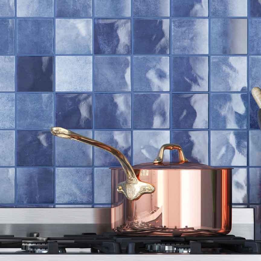 blaues Mosaik