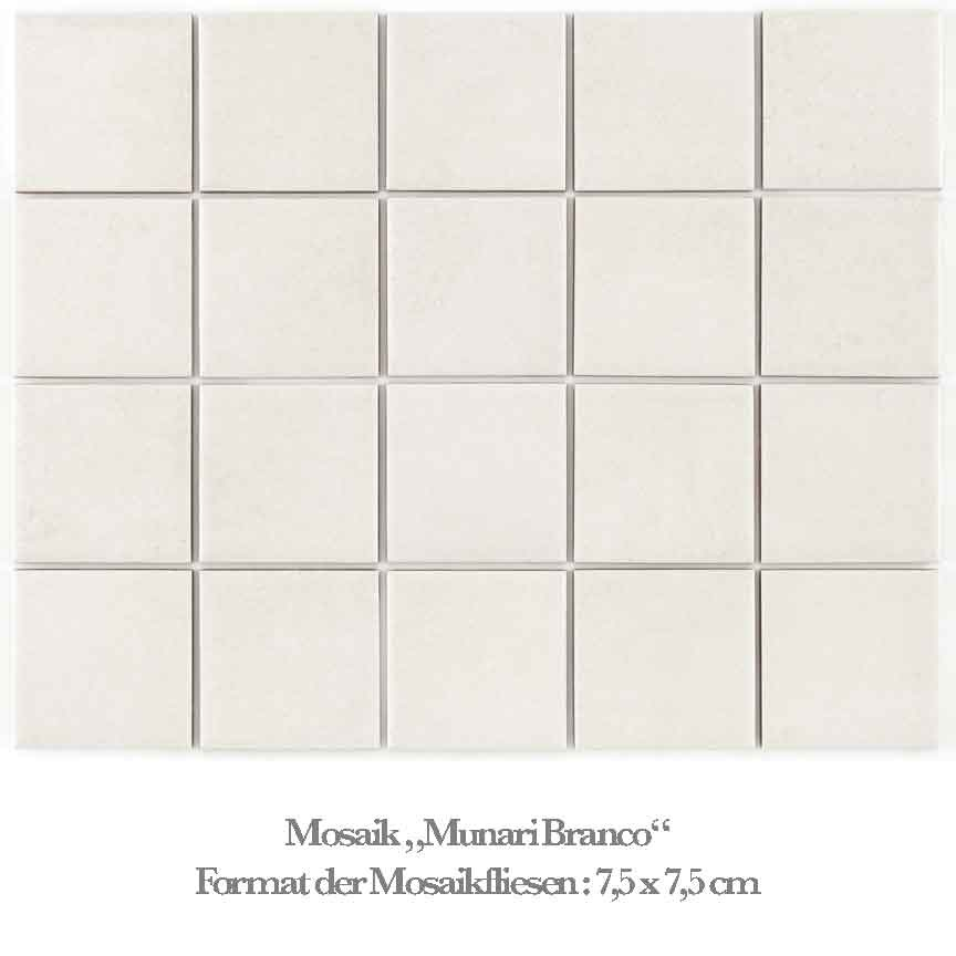 Mosaik in einer hellen Betonoptik