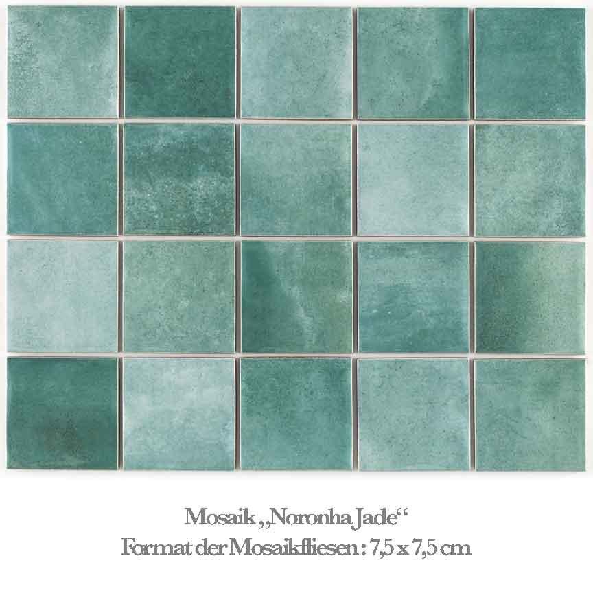 grünes Mosaik im aktuellen Aqua-Farbton