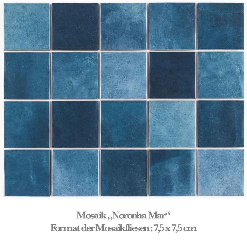 blaues Mosaik im aktuellen Aqua-Farbton