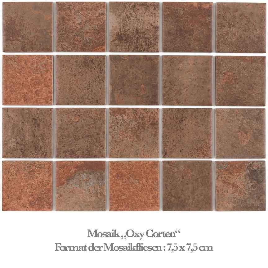 rötliches / braunes Mosaik in einer beliebten Metalloptik