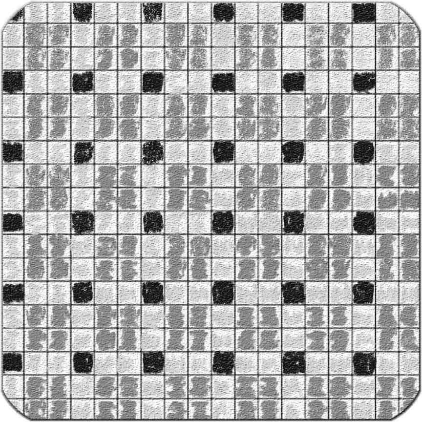 Beispiel für ein Verlegemuster mit 3 Mosaiksorten