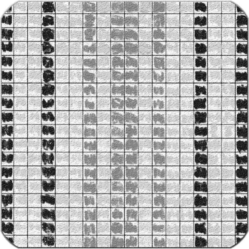"""Verlegemuster """"Streifen"""" für die Munari-Mosaike"""