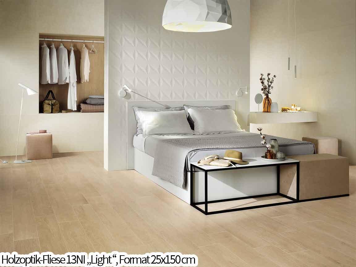 eine neutrale helle Holzoptik in 150cm Länge für den modernen Scandi-Look
