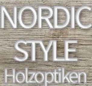 Scandi-Style mit hellen Holzfliesen