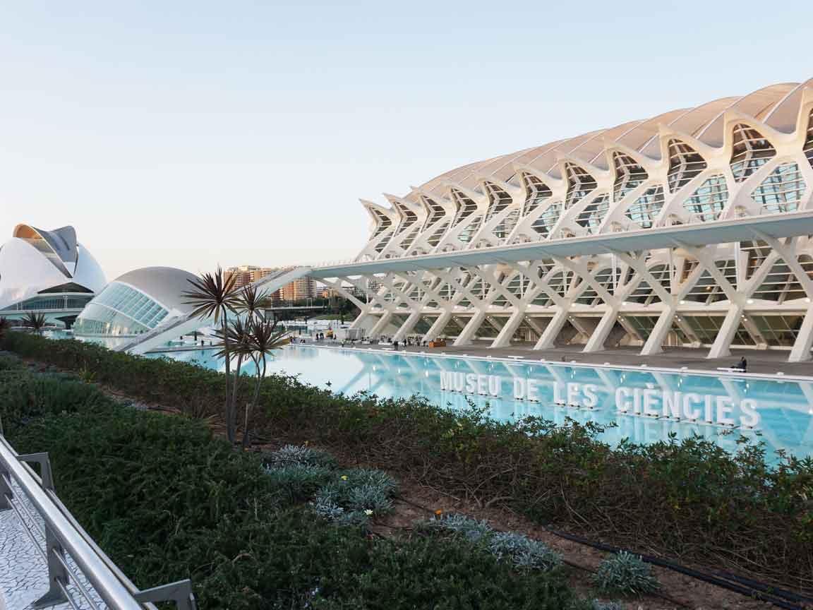 In der spanischen Stadt Valencia kann man viele Gebäude mit 3D-Strukturen entdecken