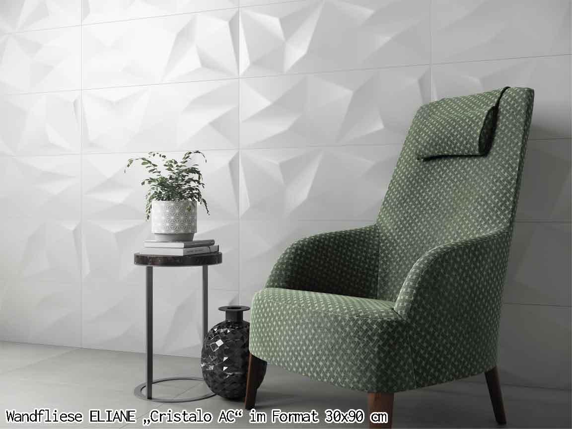 "3D-Wandfliese ELIANE ""Cristalo AC"", Format 30x90cm"