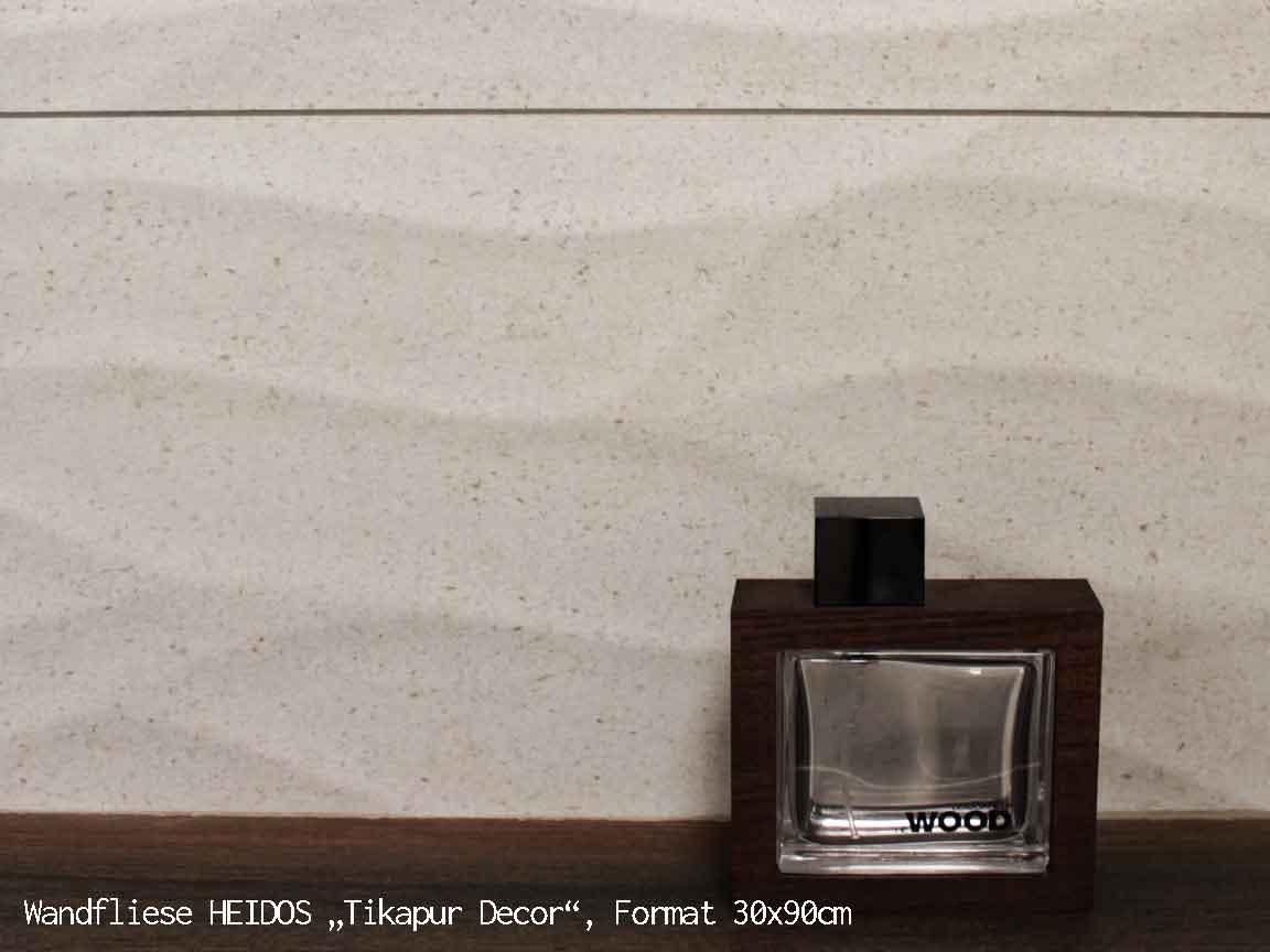 "Wandfliese HEIDOS ""Tikapur Decor"", Format 30x90cm"