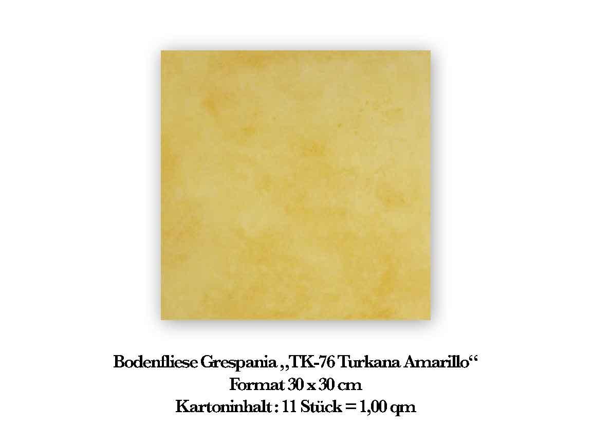 "Bodenfliese GRESPANIA ""TK-76 Turkana Amarillo"", Format 30x30 cm"