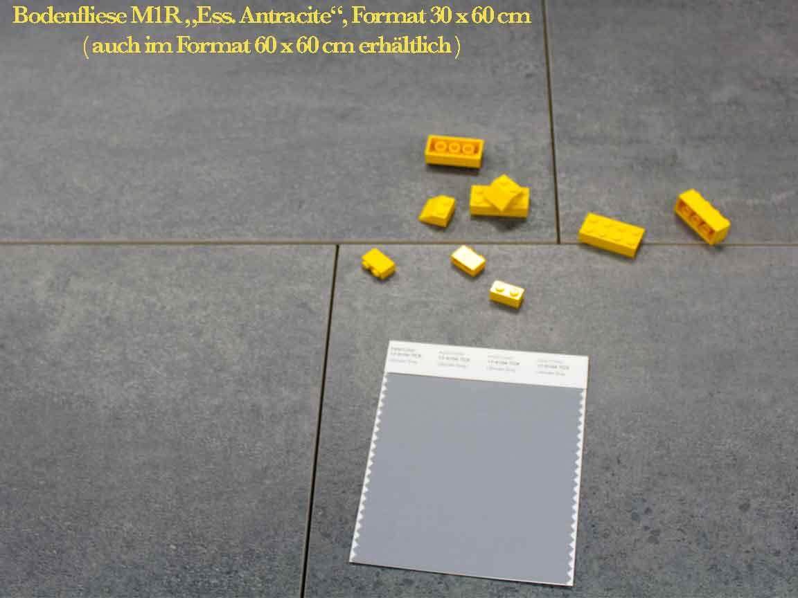 """Feinsteinzeug M1R """"Ess. Antracite"""", Format 30x60cm"""
