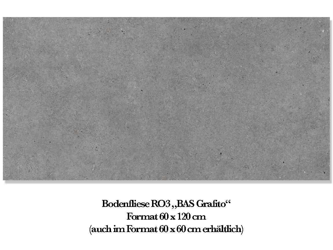 "Bodenfliese RO3 ""BAS Grafito"", Format 60x120 cm"