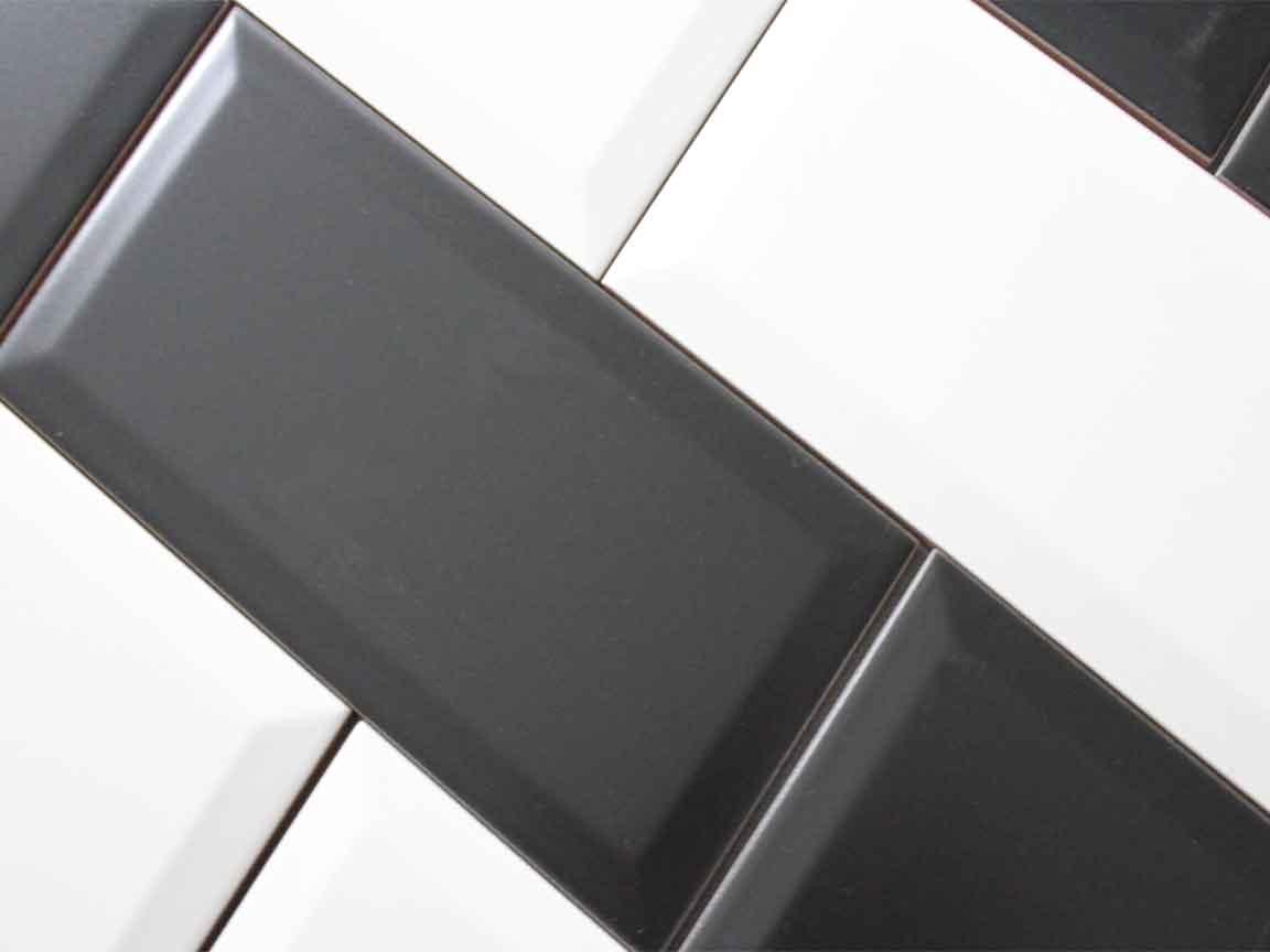 der Klassiker : die beliebten Metrofliesen in schwarz- weiß