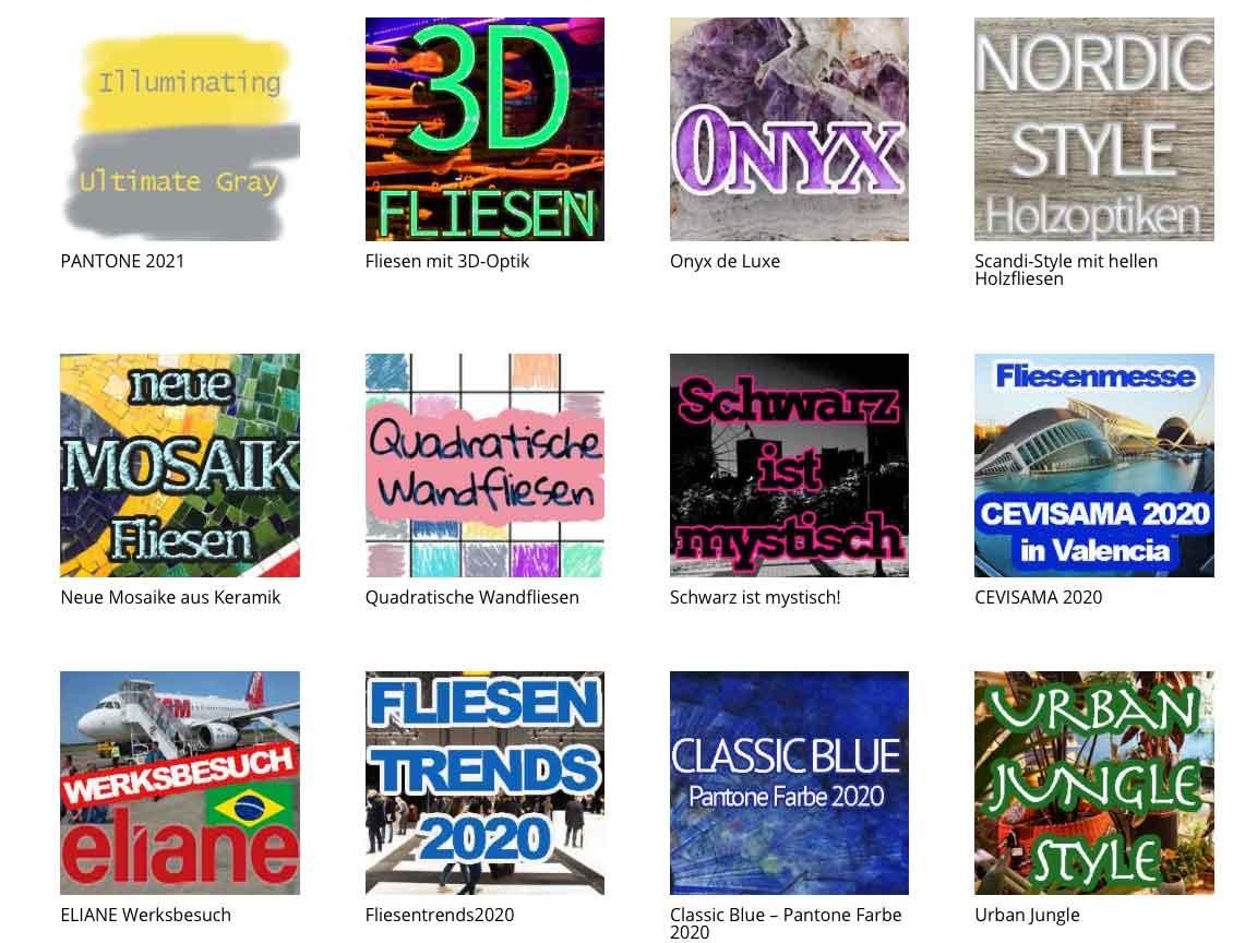 Unser Fliesenblog : Unser digitaler Fliesen-Showroom